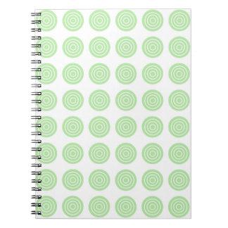 Bullseye Soft Green Notebook