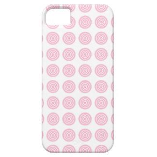 Bullseye Soft Pink iPhone Case