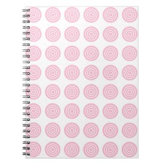 Bullseye Soft Pink Notebook