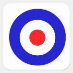 Bullseye Square Sticker