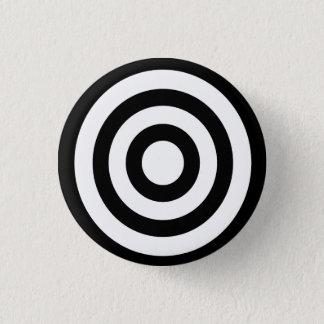 bullseye - stay focused on target pinback button