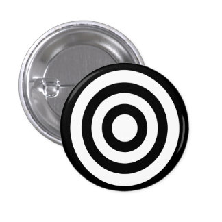 bullseye - stay focused on target pinback button