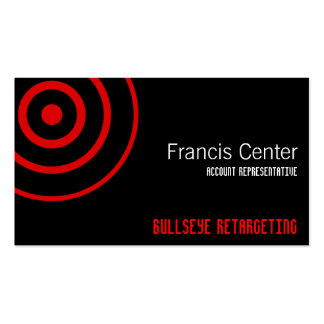 Bullseye Symbol Double-Sided Standard Business Cards (Pack Of 100)