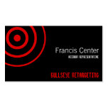 Bullseye Symbol Business Card Templates
