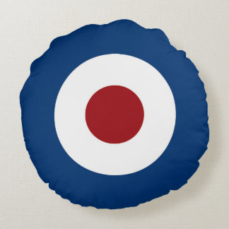 Bullseye Target in Red White and Blue Round Pillow