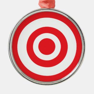 Bullseye Target Metal Ornament