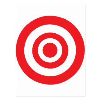 Bullseye Target Postcard