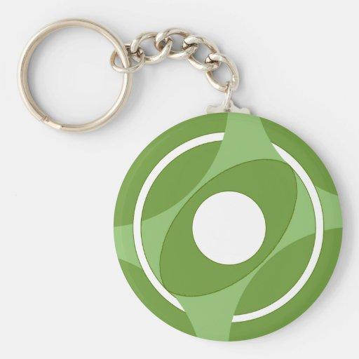 Bullseye Vesica Green Key Chain