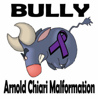 BULLy Arnold Chiari Malformation Photo Sculpture Keychain