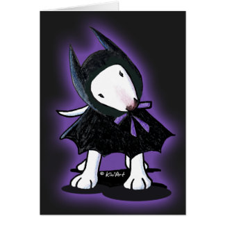 Bully BatDog Halloween Card