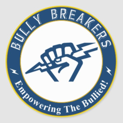Bully Breaker Official Merchandise Round Stickers