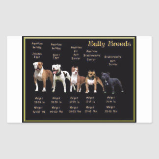 Bully Breeds Rectangular Sticker