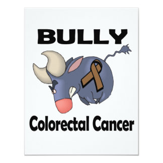 BULLy Colorectal Cancer 4.25x5.5 Paper Invitation Card