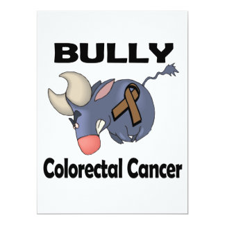 BULLy Colorectal Cancer 6.5x8.75 Paper Invitation Card