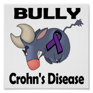 BULLy Crohn's Disease (purple) Poster