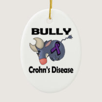 BULLy Crohns Disease (purple) Ceramic Ornament