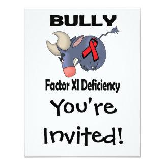 BULLy Factor XI Deficiency Card
