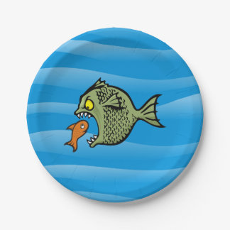 Bully Fish 7 Inch Paper Plate