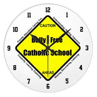 Bully - Free Catholic School Wall Clock
