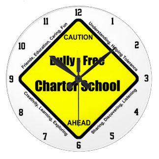 Bully - Free Charter School Wall Clock