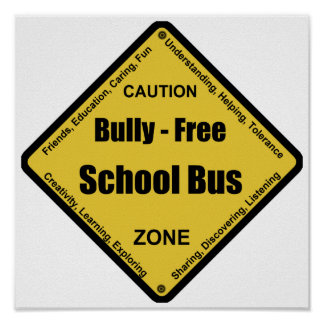 Bully - Free School Bus Posters