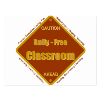 Bully - Free School Classroom Postcard