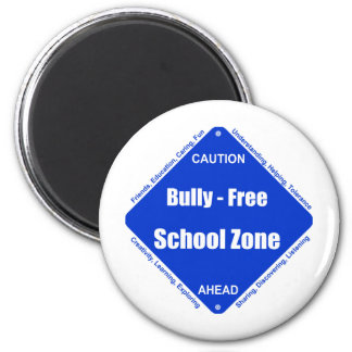 Bully - Free School Clock 2 Inch Round Magnet