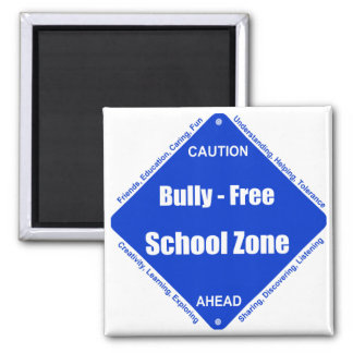 Bully - Free School Clock 2 Inch Square Magnet