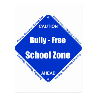 Bully - Free School Clock Postcard