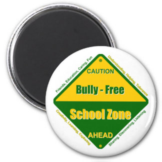 Bully - Free School Zone 2 Inch Round Magnet