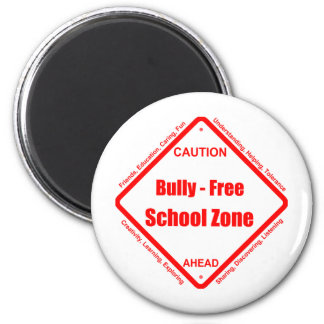 Bully- Free School Zone 2 Inch Round Magnet