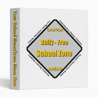 Bully Free School Zone 3 Ring Binder