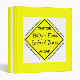 Bully Free School Zone Binder