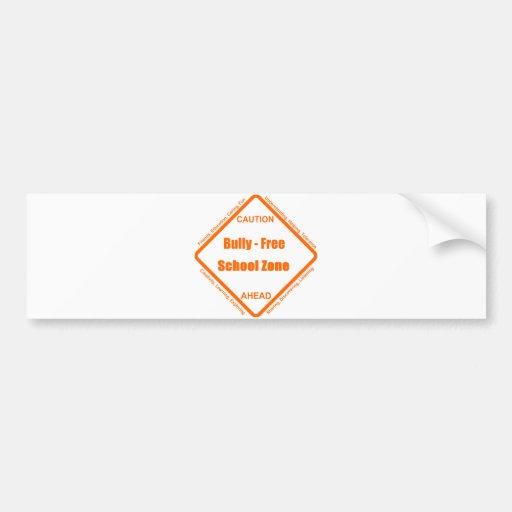 Bully - Free School Zone Bumper Stickers