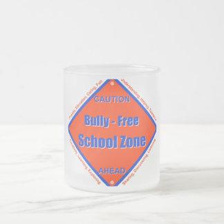 Bully - Free School Zone Frosted Glass Coffee Mug