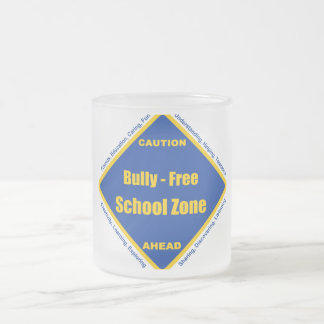 Bully - Free School Zone Frosted Glass Coffee Mug