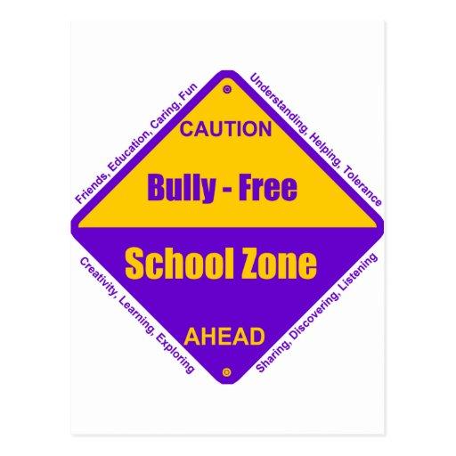 Bully - Free School Zone Postcard