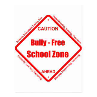 Bully- Free School Zone Postcard