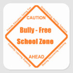Bully - Free School Zone Square Stickers