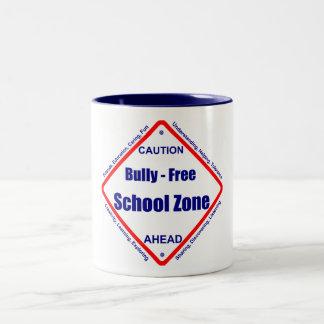 Bully - Free School Zone Two-Tone Coffee Mug