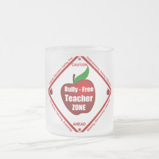 Bully - Free Teacher Zone Frosted Glass Coffee Mug
