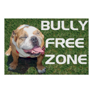 "BULLY FREE ZONE 52"" x 35"" poster"