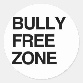 BULLY FREE ZONE CLASSIC ROUND STICKER