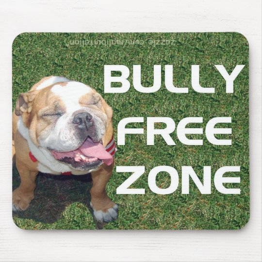 BULLY FREE ZONE MOUSE PAD