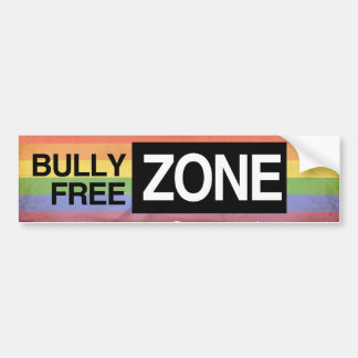 BULLY FREE ZONE -.png Car Bumper Sticker
