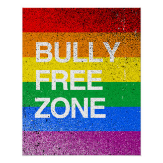 BULLY FREE ZONE -.png Poster