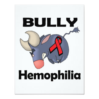 BULLy Hemophilia 4.25x5.5 Paper Invitation Card