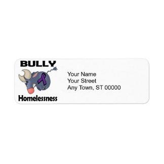 BULLy Homelessness Return Address Label