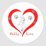 BULLY LOVE CLASSIC ROUND STICKER