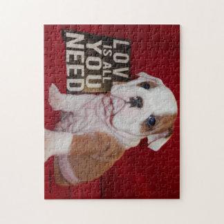 Bully Love English Bulldog Puzzle